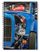 Blue Retro Beauty Spiral Notebook