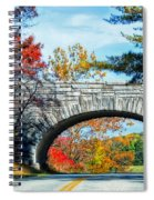 Blue Ridge Autumn Bridge Spiral Notebook