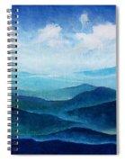Blue Ridge Blue Skyline Sheep Cloud Spiral Notebook