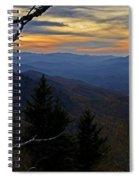 Blue Ridge Last Light Spiral Notebook