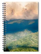Blue Ridge Parkway Scenic Mountains Overlook Summer Landscape Spiral Notebook
