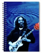 Blue Ripple From A Red Rose Spiral Notebook