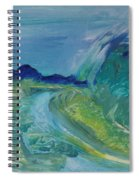 Blue River Landscape I, 1988 Oil On Canvas Spiral Notebook