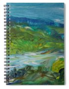 Blue River Landscape II, 1988 Oil On Canvas Spiral Notebook