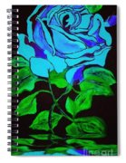 Blue Rose In The Rain Spiral Notebook