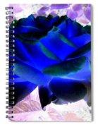 Blue Rose Spiral Notebook