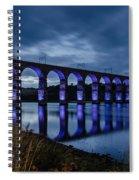 Blue Royal Border Bridge Spiral Notebook