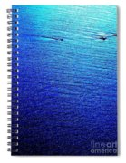 Blue Sand Abstract Spiral Notebook