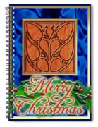 Blue Satin Merry Christmas Spiral Notebook