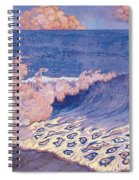 Blue Seascape Wave Effect Spiral Notebook