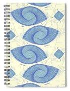 Blue Shells Spiral Notebook