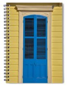 Blue Shutter Door - New Orleans Spiral Notebook