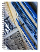 Blue Shutters In New Orleans Spiral Notebook