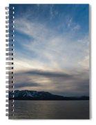 Blue Silk Spiral Notebook