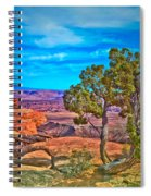Blue Skies And Canyons Spiral Notebook