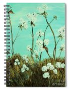 Blue Skies Over Cotton Spiral Notebook