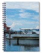 Blue Skies Over Seneca Lake Marina Spiral Notebook