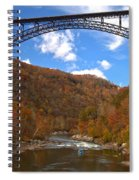Blue Skies Over The New River Bridge Spiral Notebook