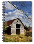 Blue Skies Red Roof Spiral Notebook