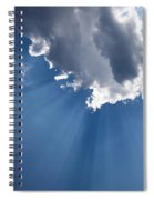 Blue Sky And Sun Rays Spiral Notebook