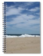 Blue Sky And Waves Spiral Notebook