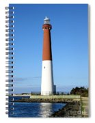 Blue Sky Blue Sea  And Barnegat Light Spiral Notebook