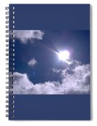 Blue Sky Clouds And Sunshine Spiral Notebook
