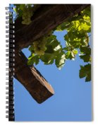 Blue Sky Grape Harvest - Thinking Of Fine Wine Spiral Notebook