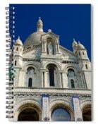 Blue Sky Over Sacre Coeur Basilica Spiral Notebook