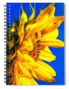 Blue Sky Sunshine Sunflower Spiral Notebook