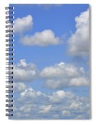 Blue Sky With Cumulus Clouds Day Usa Spiral Notebook