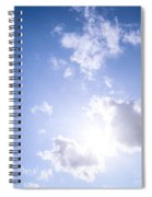 Blue Sky With Sun And Clouds Spiral Notebook