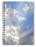Blue Sky With Sun Rays Spiral Notebook