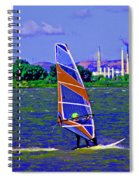 Blue Skys Clouds And Waves Spiral Notebook