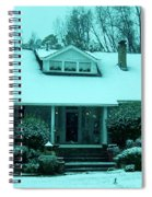 Blue Snow  Spiral Notebook
