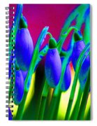 Blue Snowdrops Spiral Notebook