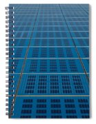 Blue Solar Panel Collector View Spiral Notebook