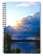 Blue Soundscape Spiral Notebook