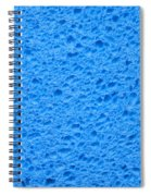 Blue Sponge Texture Spiral Notebook