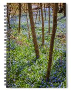 Blue Spring Flowers In Forest Spiral Notebook
