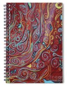 Blue Squiggles Spiral Notebook