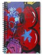 Blue Star Graffiti Nyc 2014 Spiral Notebook
