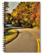 Blue Star Highway In Fall Spiral Notebook