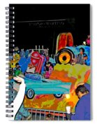 Blue Suede Shoes Posterized Spiral Notebook