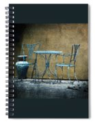 Blue Table And Chairs Spiral Notebook