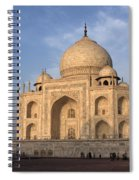 Taj Mahal In Evening Light Spiral Notebook