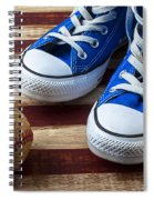 Blue Tennis Shoes And Baseball Spiral Notebook