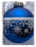 Blue Tree Ornament Spiral Notebook