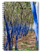 Blue Trees In Nature Spiral Notebook