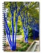 Blue Trunked Trees 2 Spiral Notebook
